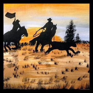 Other - Matted 8 x 10 Acrylic Shadow Riders 1
